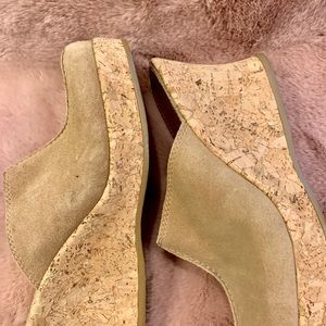 White Mountain Shoes - Cork Wedge clogs